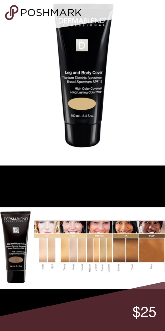 Dermablend Leg And Body Cover Foundation Ivory Brand New In Box Shade Is Ivory This Is A Medium Coverage Liquid Fo Dermablend Spf Sunscreen Liquid Foundation