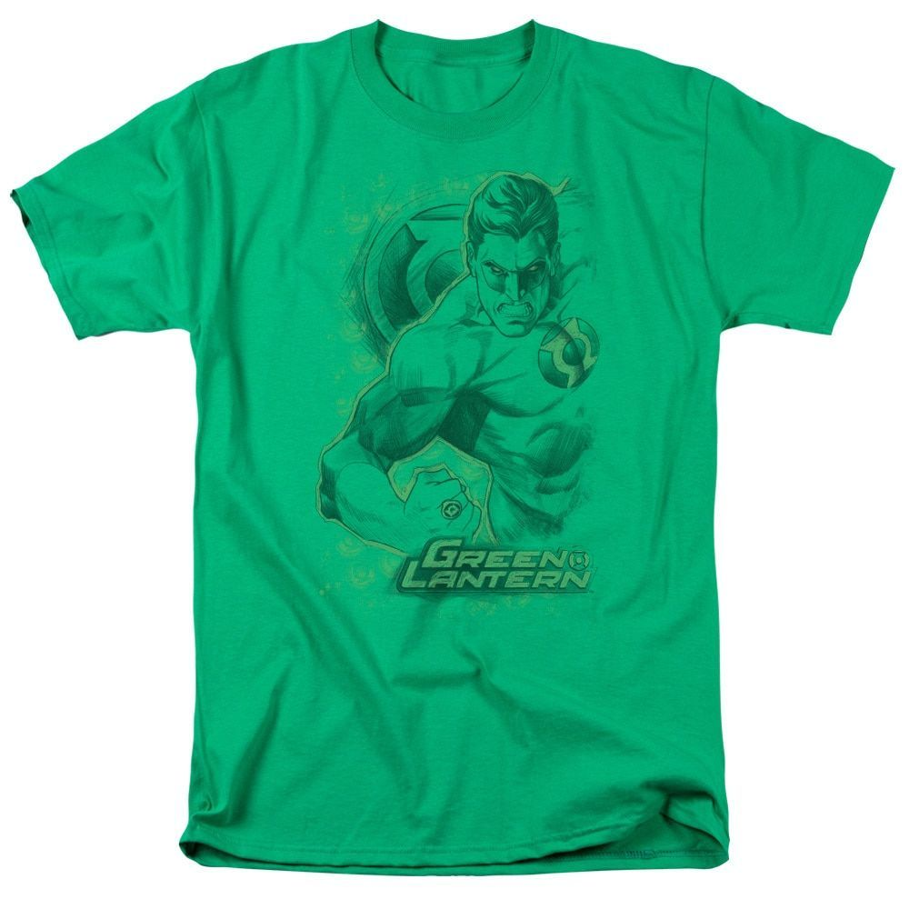 DC/Pencil Energy Short Sleeve Adult T-Shirt 18/1 in Kelly