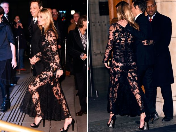 Kate Moss\' Lady In Black Lace Look Was Amazing | Look | slip dress ...