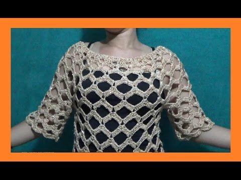 Blusa Calada Para Toda Ocasión a Crochet - YouTube | jud | Pinterest ...