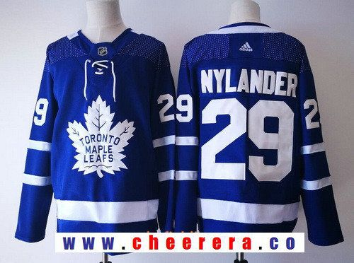 a3070156813 Men's Toronto Maple Leafs #29 William Nylander Royal Blue Home 2017-2018 adidas  Hockey Stitched NHL Jersey