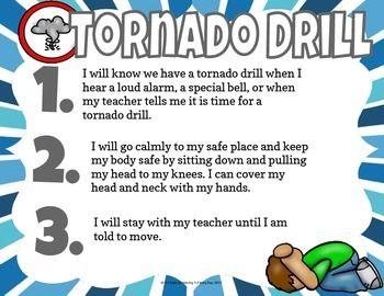 Tornado Drill Social Story Mini Book Set | love | Social