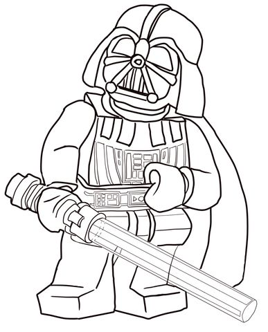 Lego Star Wars Darth Vader coloring page from Lego Star Wars