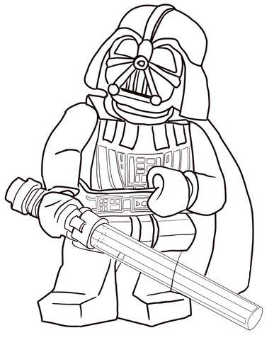 Ausmalbild Lego Star Wars Darth Vader Kategorien LEGO