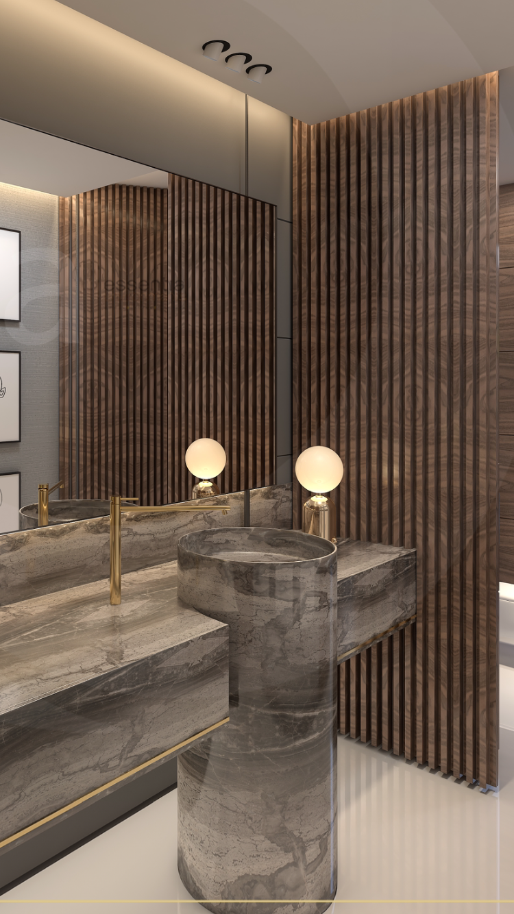 Designed and styled by monica Chawla for essentia environments- india's premier design and build multidisciplinary firm. #residential #spaceplanning #interiorarchitecture #monicachawla #essentiaenvironments #hardeshchawla #design #plan #Bath #wooden #decor #styling #interiors #interiorfitouts #designspecialist #lighting #luxury #lifestyle #design #life #minimal #beautiful #healthylifestyle #realestate #designfirm #interiorinspiration #design #modernpowderrooms