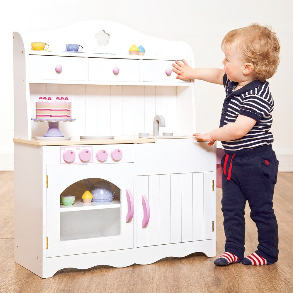 Give Playtime A Boost With The Fleur Play Kitchen Designed To Encourage Social And Imaginative Crafted From Sy Wood This Beautiful Farmhou