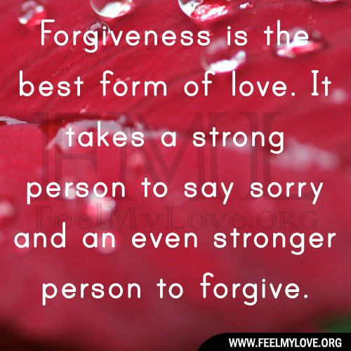 Forgiveness Quotes And Sayings Forgiveness Is The Best Form Of Love It Takes A
