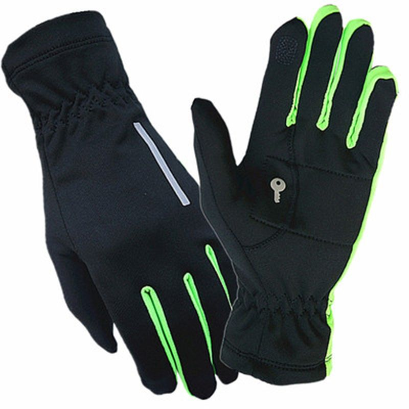 BIKIGHT Winter Outdoor Running Touch Screen Gloves Palm Key Bag Windproof Warm P