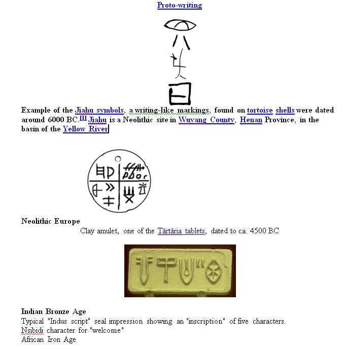 Proto Writing Example Of The Jiahu Symbols China Trtria Tablets