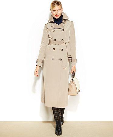 96978df25d3 London Fog Hooded Belted Maxi Trench Coat - Coats - Women - Macy s ...