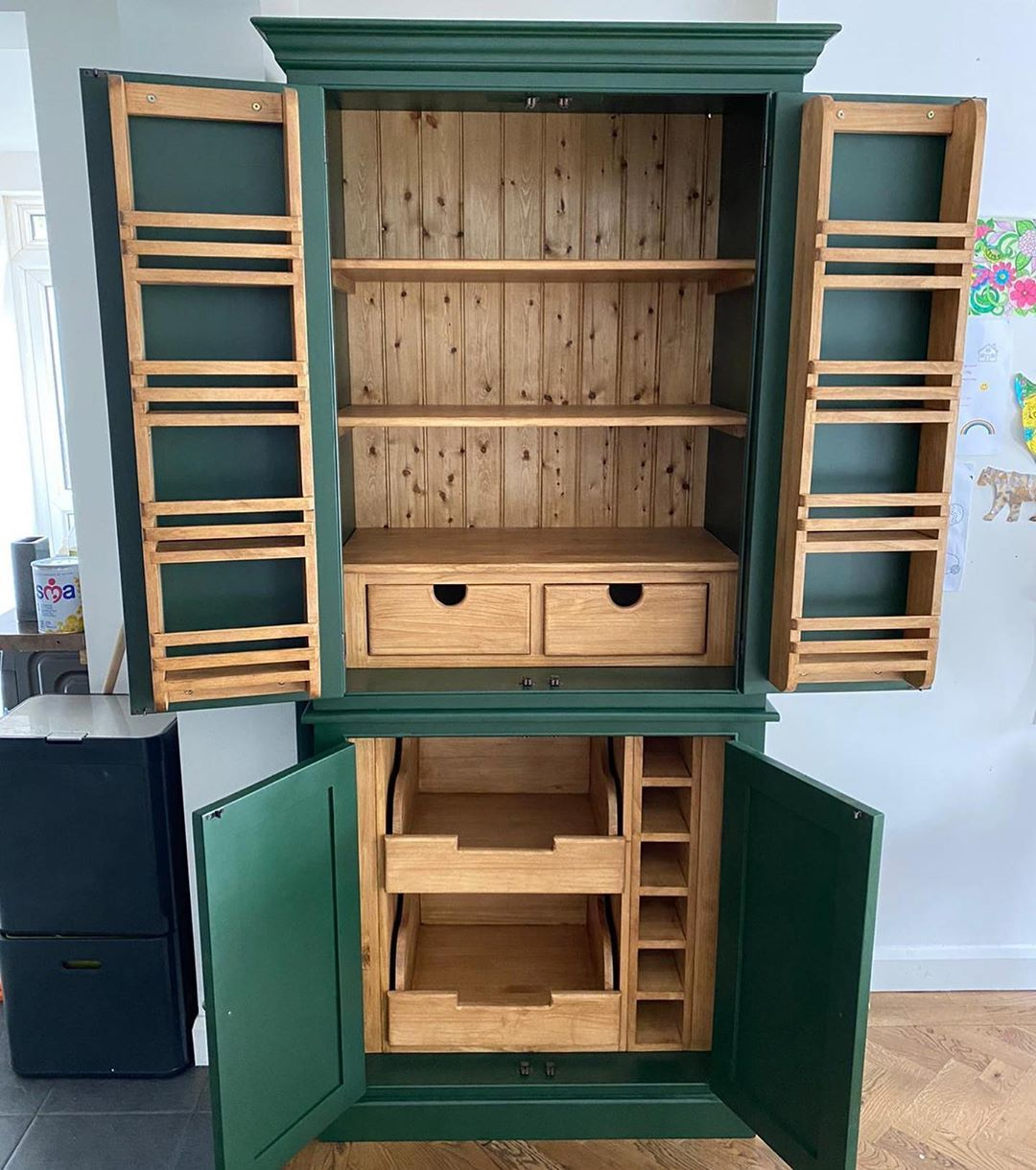 Raw Furniture Uk On Instagram Everybody Loves A Larder Cupboard First One We Ve Done In Farrow Ball Duck Gree In 2020 Raw Furniture Larder Cupboard Furniture Uk