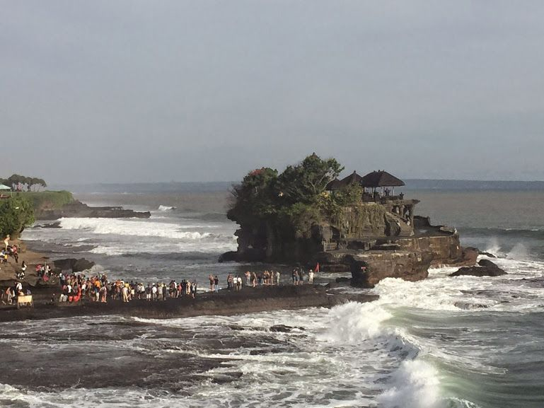 Tanah Lot is a rock formation off the Indonesian island of Bali. It is home to the pilgrimage temple Pura Tanah Lot, a popular tourist and cultural icon for photography and general exoticism. #Bali #TanahLot #thedecksbali