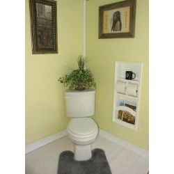 Recessed in the wall magazine rack double toilet paper holder and shelf for Recessed in the wall bathroom magazine rack