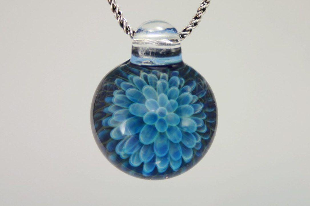 Heady Glass Pendant Necklace Trippy Glass Pendant Lampwork