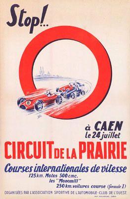 Circuit de la Prairie 1954 vintage poster