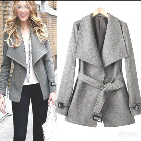 Collection Womens Grey Wool Coat Pictures - Reikian