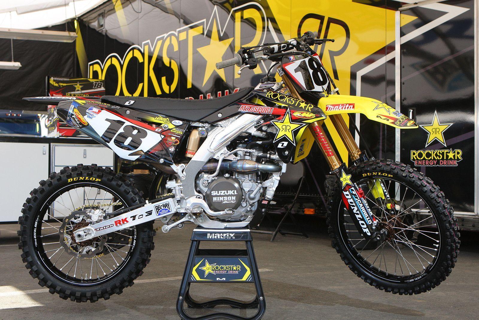 Suzuki Rm Z 450 Team Rockstar Suzuki David Millsaps Supercross 2013 Motorcross Bike Enduro Motocross Racing Motorcycles