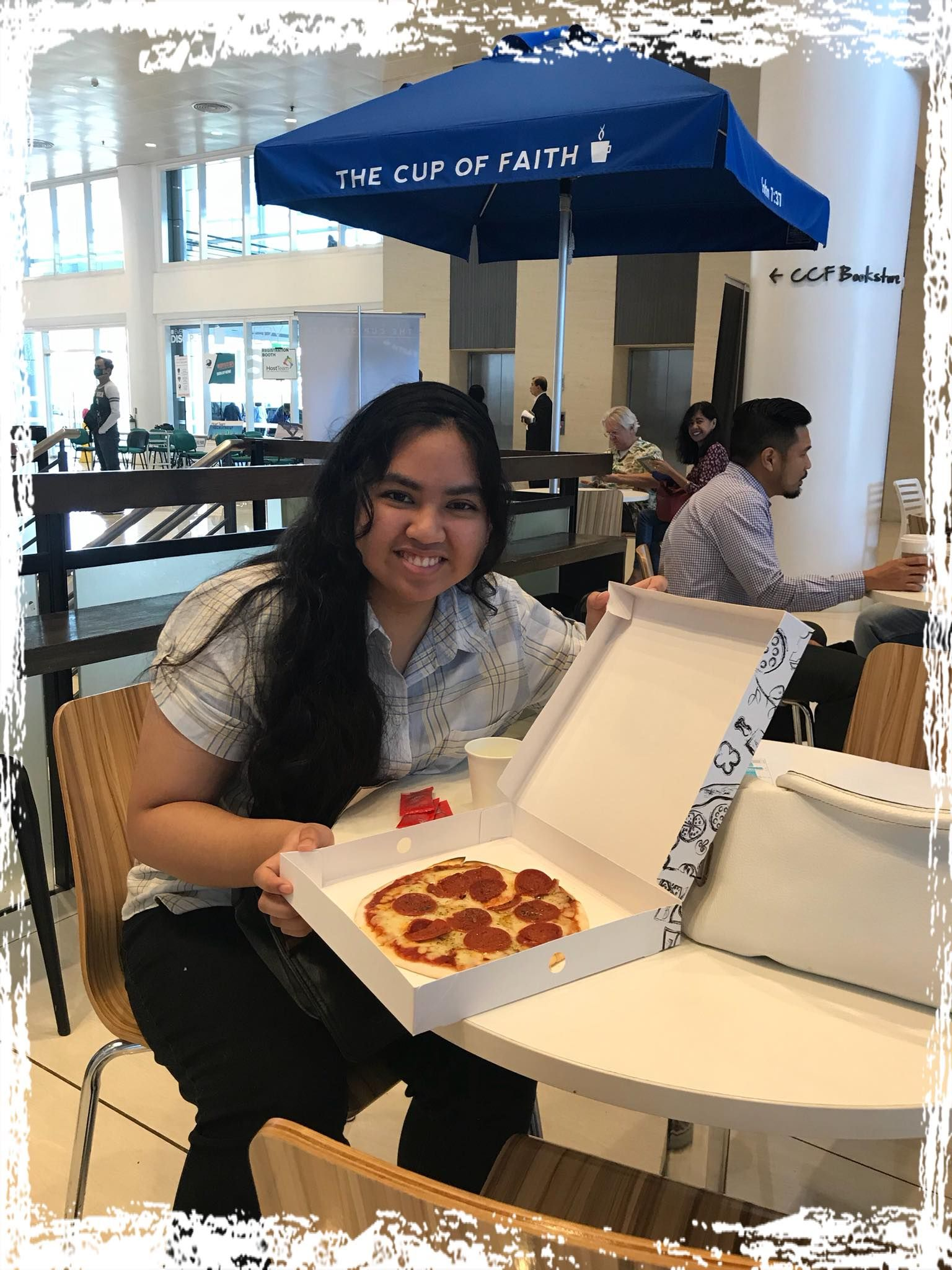 It's time for pizza at The Cup of Faith TheCupOfFaith
