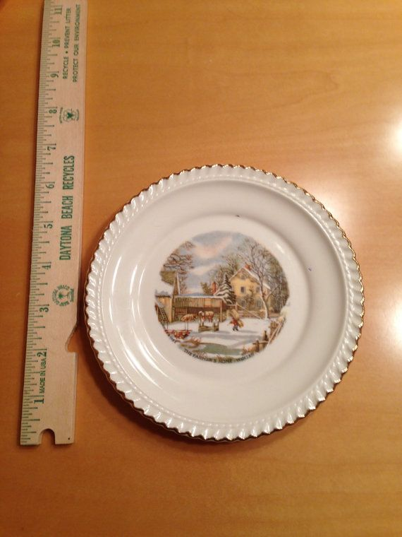 Vintage Harkerware Currier and Ives 6 1/4\