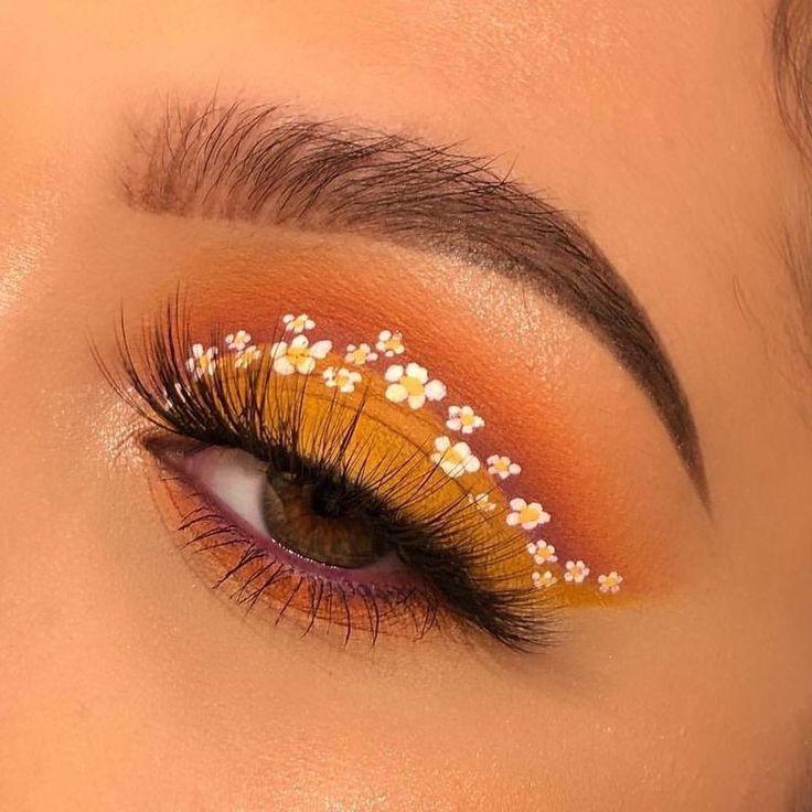 augen make up blumen #prettymakeup