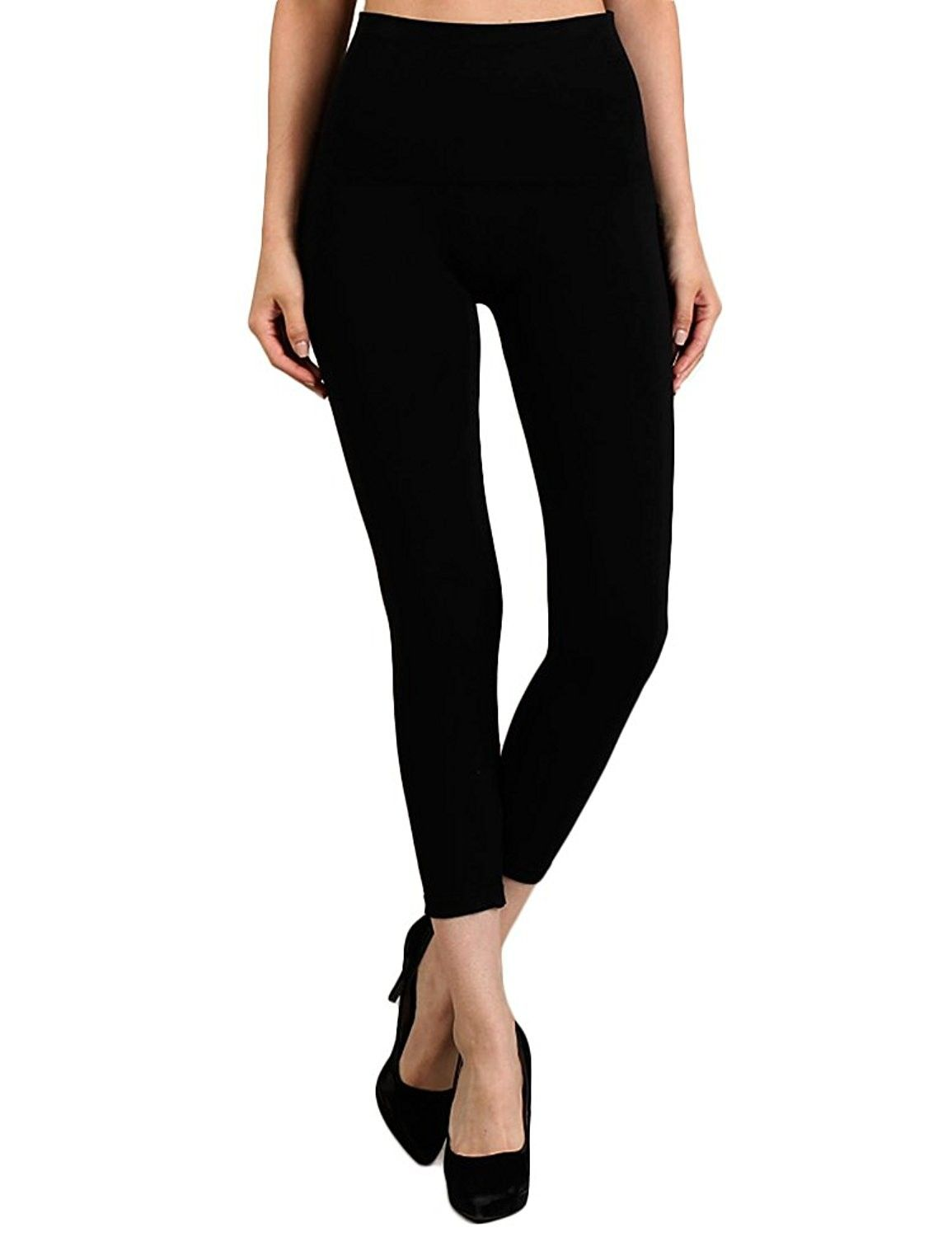 9f1abfc3e1f6bf M-Rena Tummy Tuck High Waist 3/4 Cropped Leggings - Black - CH12EZV85TJ, Women's Clothing, Leggings #women #fashion #clothing #style #sexy #outfits # Leggings