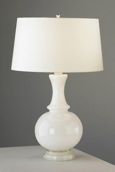 robert abby lamps | Robert Abbey White Glass Tl Lnn, Table Lamp | Neena's Lighting