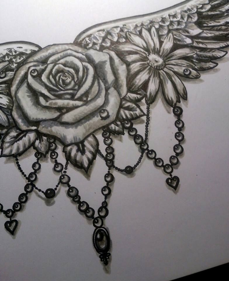 flowers and pearls tattoo ideas pinterest tattoo. Black Bedroom Furniture Sets. Home Design Ideas