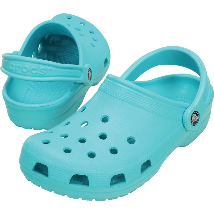 2db81decf87d7 Pool blue crocs size 8