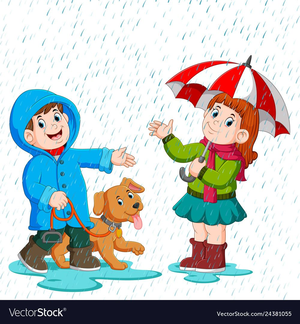 Illustration Of A Couple Under An Umbrella Walking In The Rain Download A Free Preview Or H Drawing For Kids Walking In The Rain Alphabet Activities Preschool
