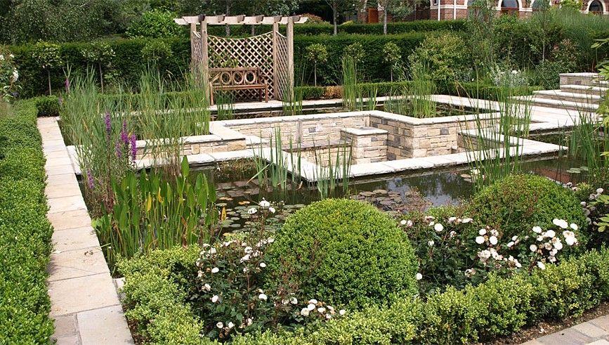 Formal Pond Pangbourne Berkshire Landscape Garden Designers Reading Berkshire Pete Sims Pond Design Raised Pond Garden Design