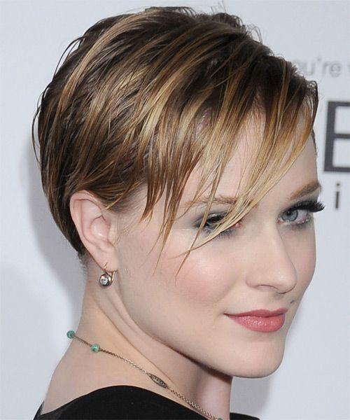 Evan Rachel Wood Short Haircut Straight Hairstyle Light Brunette