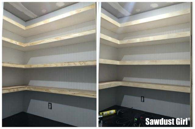 Pantry Floating Shelves With Images Diy Pantry Shelves
