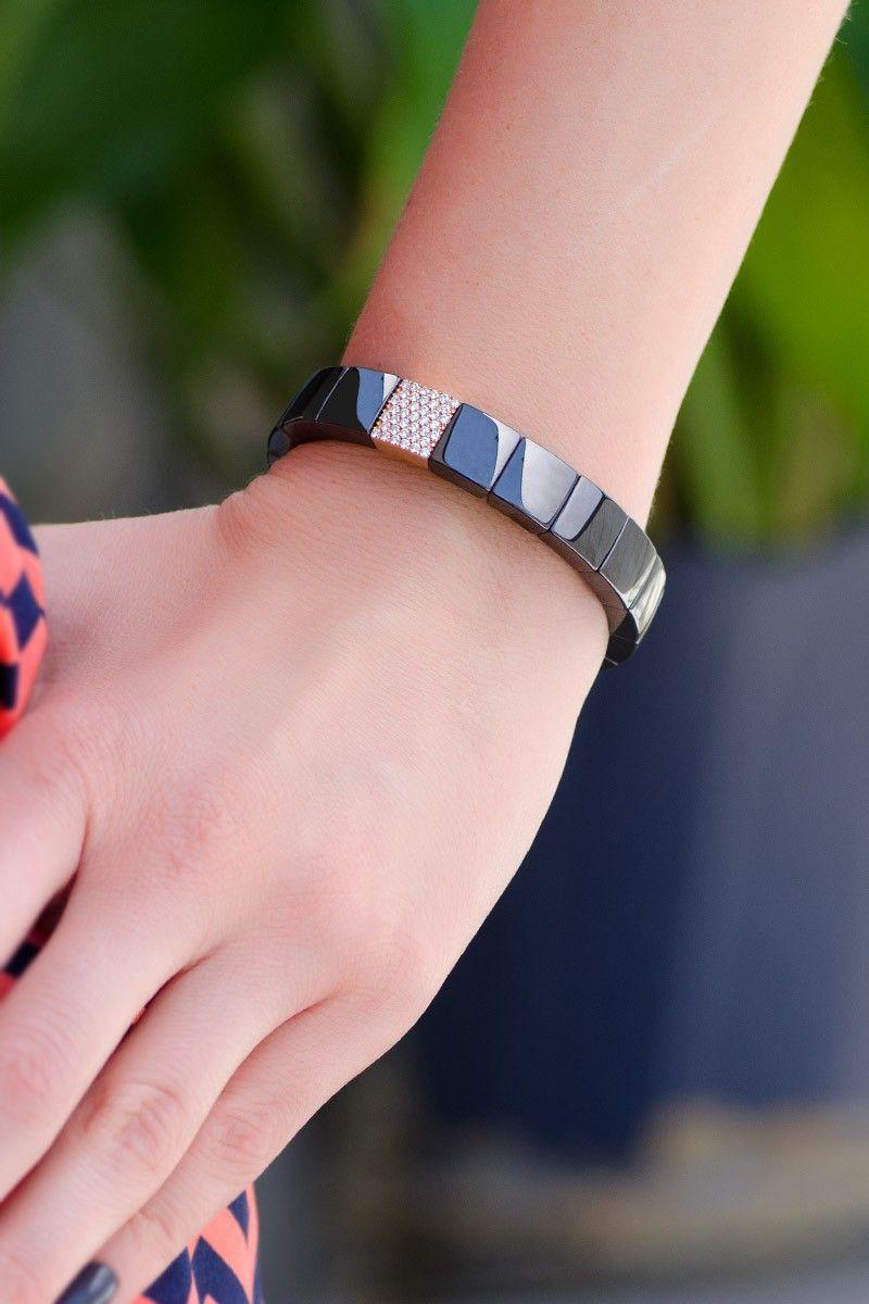 Roberto Demeglio Black Ceramic & Diamond Bracelet   Oster Jewelers ...