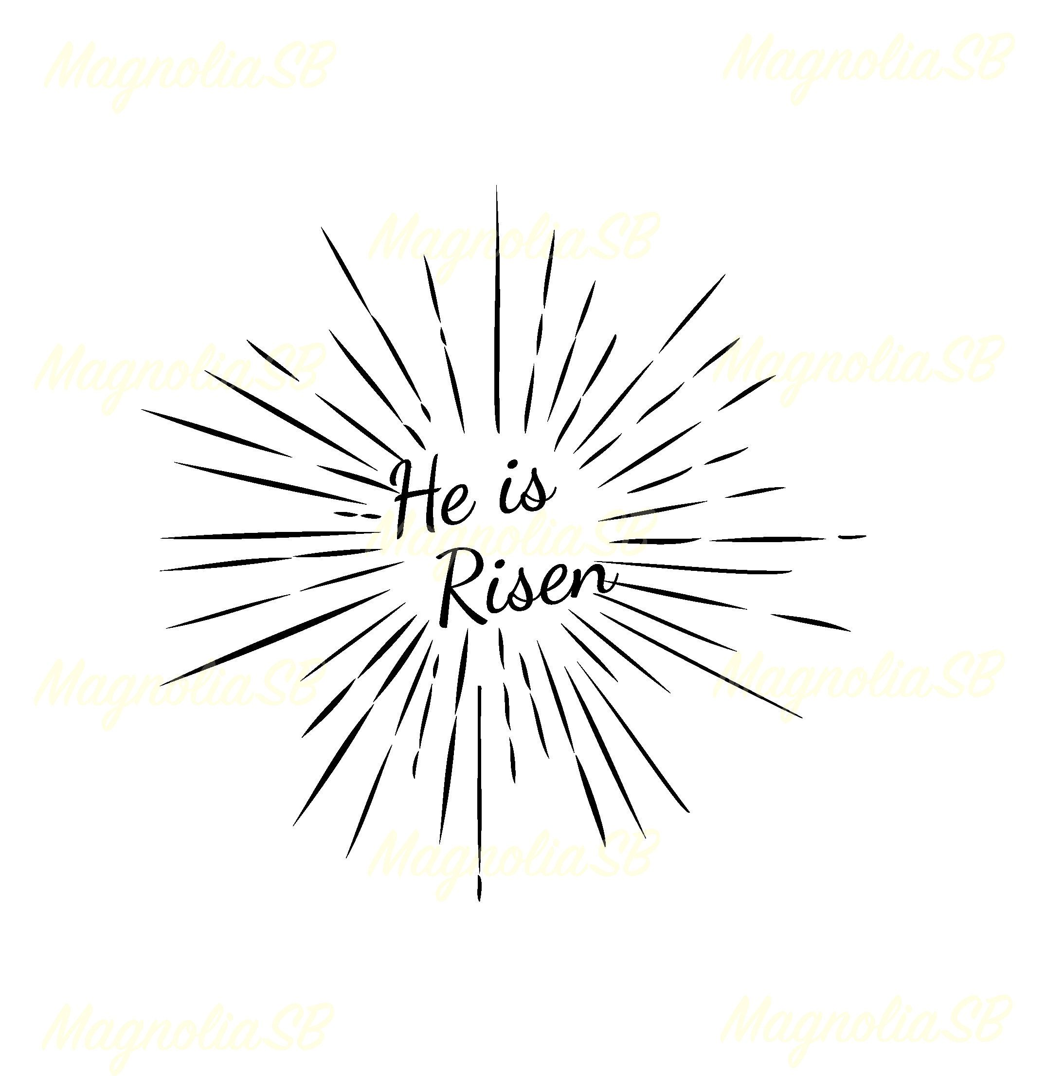 he is risen svg he is risen dxf he is risen clipart cutting he is risen vector he is risen shape easter rays he is risen silhouette [ 2152 x 2211 Pixel ]