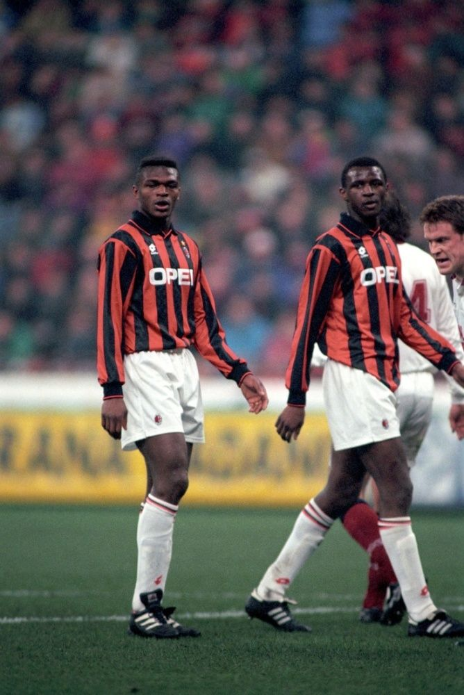 wholesale dealer 1cf1b c2ea3 Marcel Desailly & Patrick Vieira (AC Milan) | Soccer ...