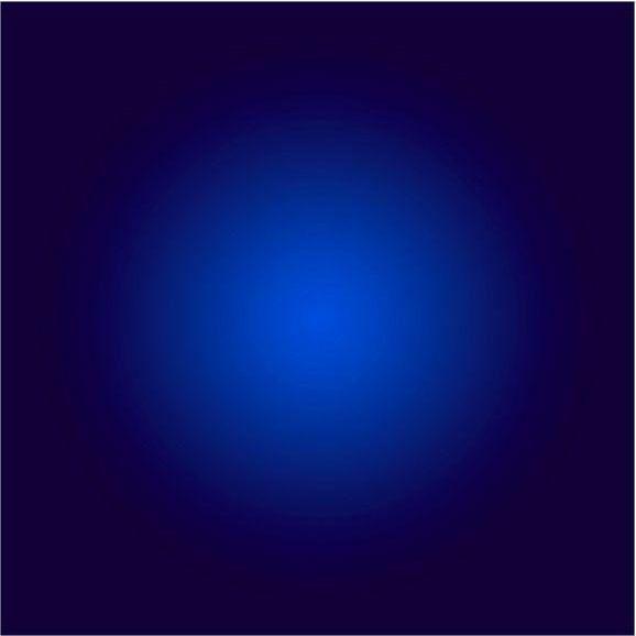 Modern Framed Facemount Acrylic Cobalt Blue Halo by Alejandro Franseschini