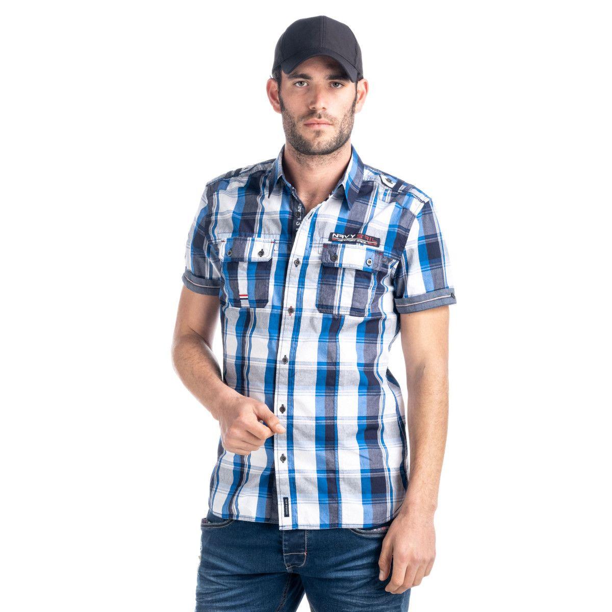 CAMISA CON CHARRETERA EN LOS HOMBROS Camisas Hombre