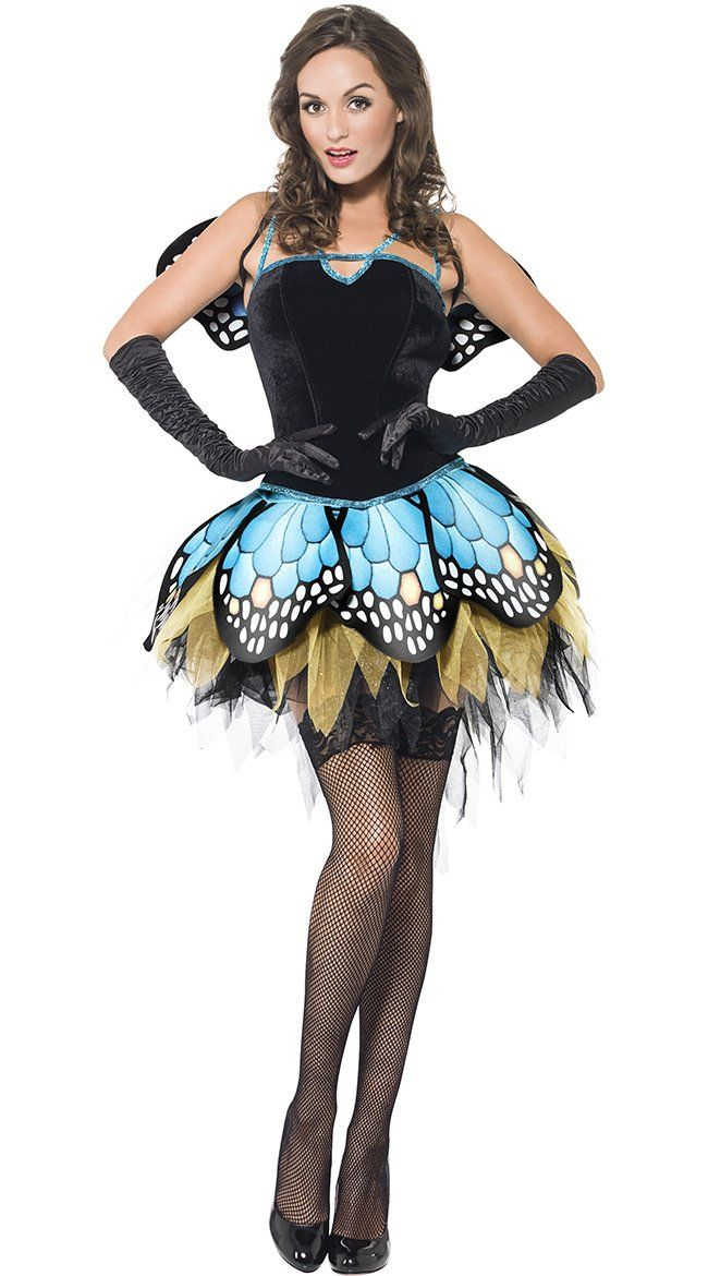High Quality Flirty Butterfly Babe Halloween Costume lady Medium - halloween costume ideas for female