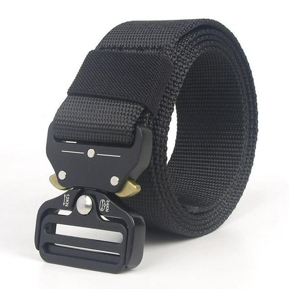 Mens Casual Outdoor Military Tactical Waistband Canvas Buckle Belt Straps New AG