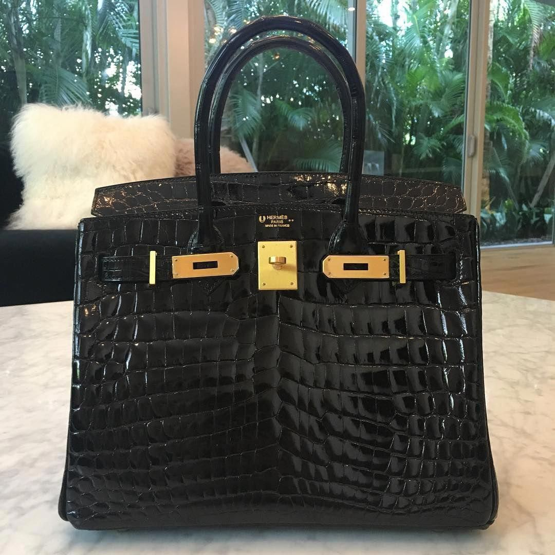 274ed56560 Hermès 30cm Birkin | HSS Special Order | Black Shiny Niloticus Crocodile |  Brushed Gold Hardware | 2016 #Hermeshandbags