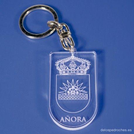 Llavero de metacrilato del escudo de Añora  #ValleDeLosPedroches    http://delospedroches.es/es/metacrilato/165-llavero-metacrilato-escudo-ll91.html
