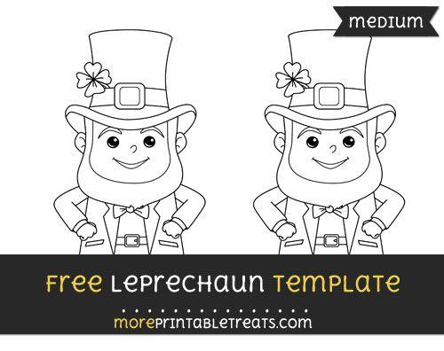free leprechaun template medium shapes and templates printables