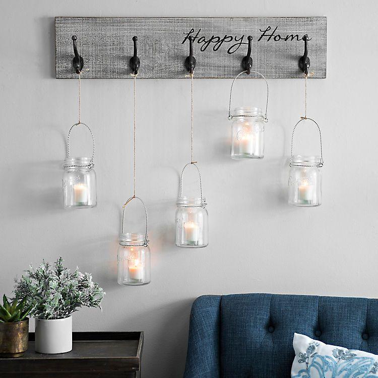 Happy home hooks wall plaque kirklands wall decor sale