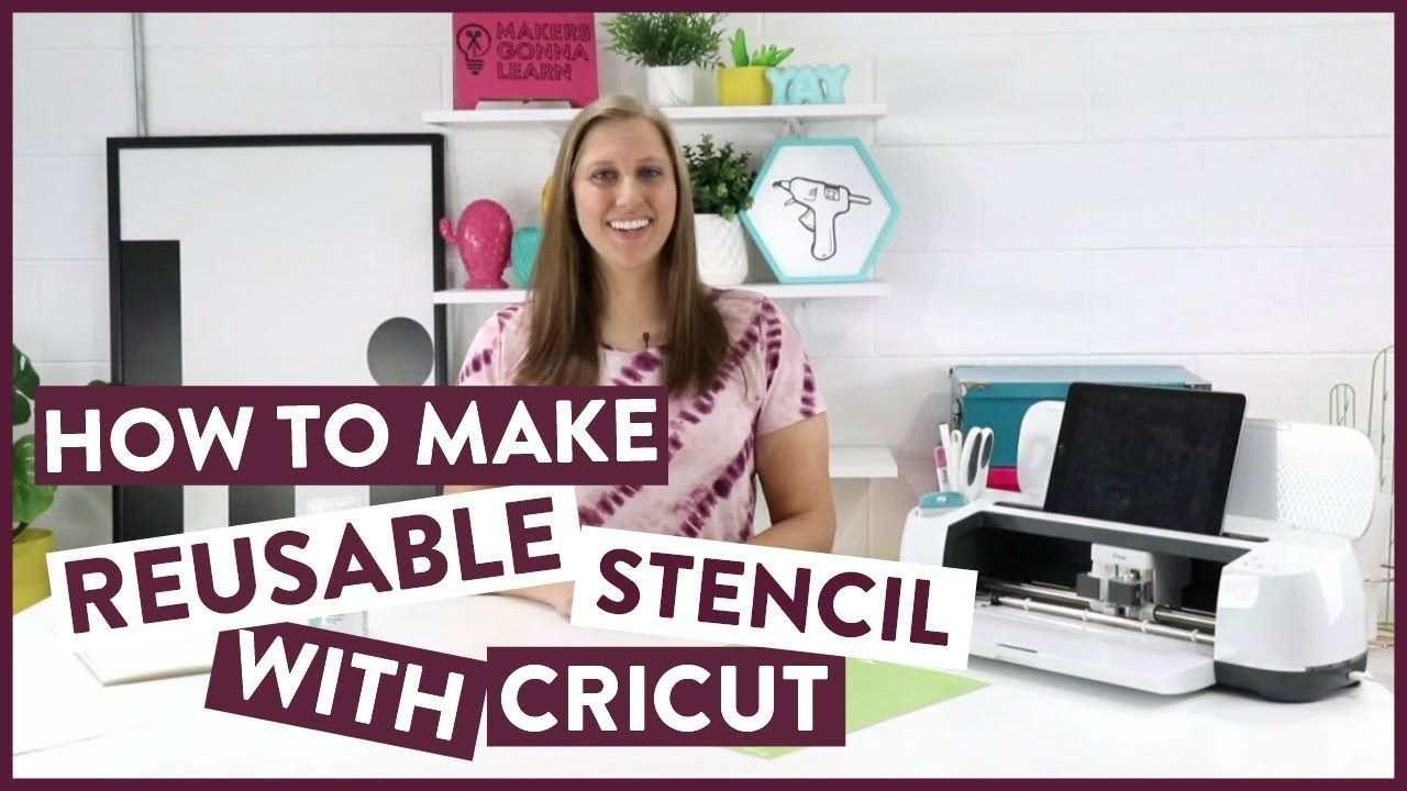 How to make reusable stencils with cricut youtube