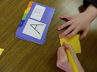 Mystery Letter Game for handwriting without tears-helpful for those with difficulty visualizing how to draw the letters, from OT Tools for Public Schools. http://otinpublicschools.blogspot.com/2012/05/mystery-letter-game.html Pinned by SOS Inc. Resources.  Follow all our boards at http://pinterest.com/sostherapy  for therapy resources.