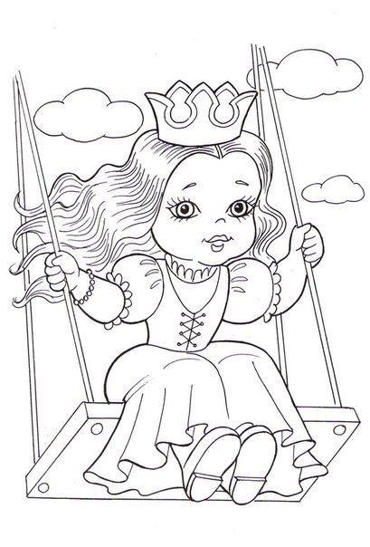 раскраски@oboi_raskraski Раскраски для маленьких принцесс ...