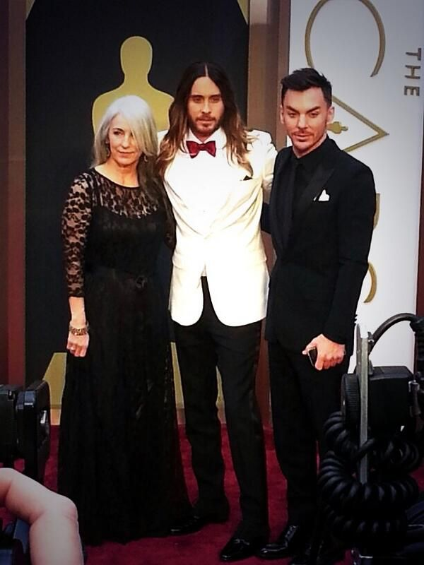 The Leto Family at the Oscar's 2014