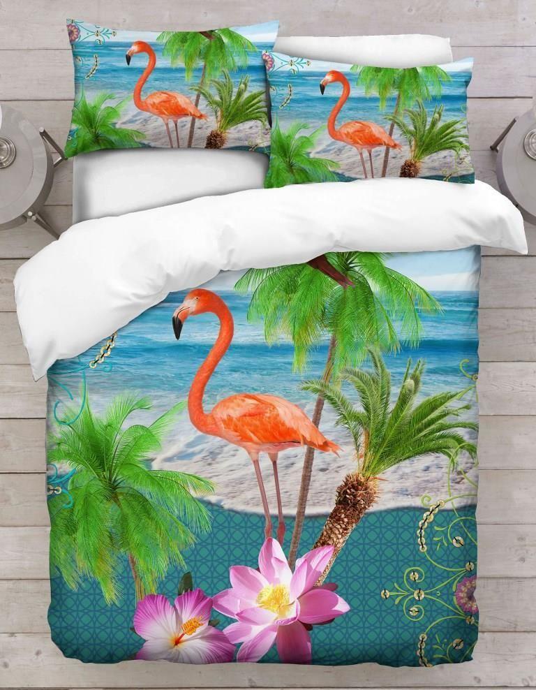 Tropical Flamingo Pillowcase Set