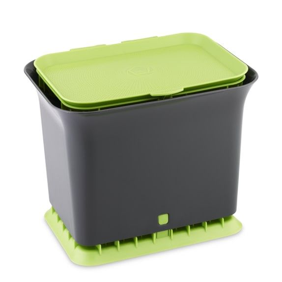 Full Circle Fresh Air Kitchen Compost Collector Green