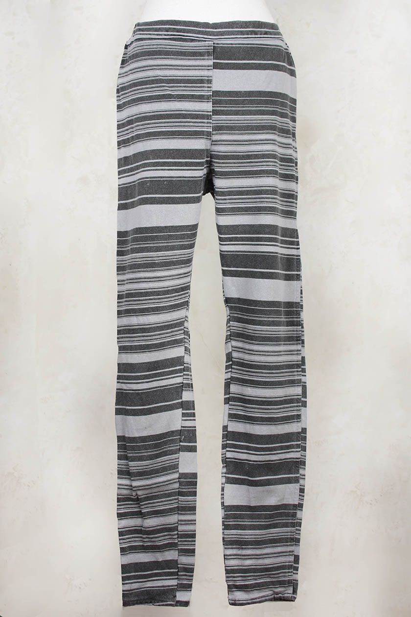 Jersey Stretch Striped Trousers in Seele - Privatsachen